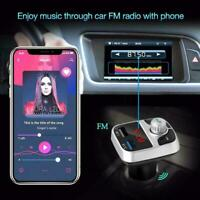 Wireless InCar Bluetooth FM Transmitter MP3 Radio Adapter Fast Car Charger