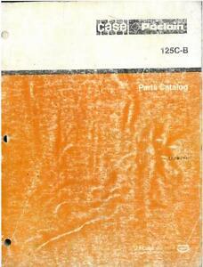 CASE POCLAIN 125B CRAWLER EXCAVATOR PARTS MANUAL