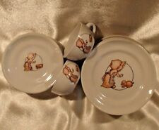 13 Pc Vintage Sunbonnet Sue Baby w/ Puppy Dog Childs Porcelain TAIWAN Dishes