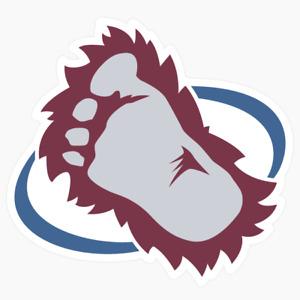 Colorado Avalanche Secondary Logo NHL DieCut Vinyl Decal Buy 1 Get 2 FREE