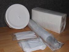 PartySET100 Pappteller rund 23cm+100 Messer+100 Gabel+100 Becher +125 Servietten
