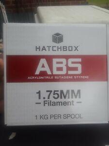 Hatchbox ABS 1.75mm, 1kg Spool 3D Printer Filament True White