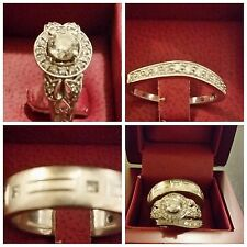 Women and Men Engagement and Wedding Rings Set