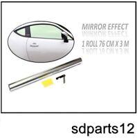 Film Teinte Pour Vitre Solaire Argent Effet Miroir 3m 76cm Vitres Voiture