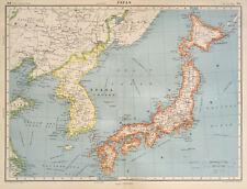 Antique Map Of Japan 1947 Korea Kyushu Hokkaido Shikoku