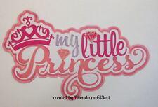 Little Princess Title girl paper piecing  premade scrapbook page Rhonda rm613art
