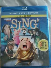 Sing dvd (Blu-Ray+DVD+Digital HD 2016)