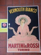 MARTINI  VERMOUTH bianco  POSTER  LITOGRAFIA 2 - ANNO '55 CIRCA - DUDOVICH