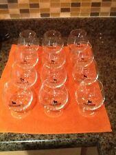 "Osborne Cognac Brandy Glass Set Of 12 Made In Spain Barware 4 1/2"""