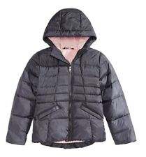 The North Face Moondoggy Girls Hooded Puffer Jacket Size XS 6 Periscope Gray