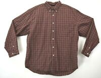 Eddie Bauer Mens XL Long Sleeve Button Down Dress Casual Shirt 100% Cotton Red
