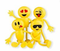 "12pcs 2"" Emoji Smiley Face Emoticon Bendable Figures Party Favors Fun Toys"