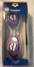 Arena Fluid Silicone Core Training Goggles *NEW* Small Clear/Violet #9239180