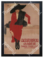 Historic Sardi Trolli Shoes, 1897 Advertising Postcard