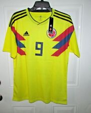 Colombia FALCAO Soccer Yellow Jersey Climalite #9  size.- Large New with tags