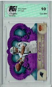 Cam Newton 2012 Crown Royale #76 Super Rare Purple Foil #6/25 Card PGI 10