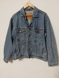Wrangler Denim Jacket Made In Portugal Mens Size Large