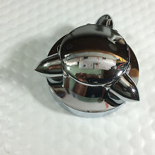 gas cap cover 2 5/16'' O.D kromett STYLE chrome L1973/1982 W/ALLEN SCREWS