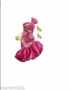 Barbie Fashionistas Clothing Holiday Party Dress Hot Pink Pack Fashion Outfits