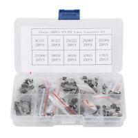 10 Types 200pcs NPN PNP Power Transistor Kit Box BC337 BC547 2N2222 S8050 Pack