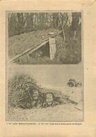 WWI Poilus Bataille de l'Artois / Imperial Russian Army Poland 1915 ILLUSTRATION