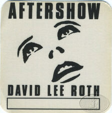David Lee Roth 1988 Backstage Pass Van Halen Aso White
