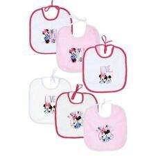 Bébé Garçons Filles Disney Mickey Minnie Mouse 6 Pièce Pack Bavoirs Alimentation Cadeau Coton