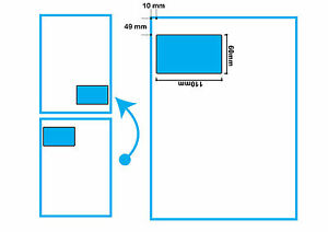 2000 Sheets A4 EBAY SM INTEGRATED LABEL STICKY ADDRESS PEEL INVOICE 100x60mm CS