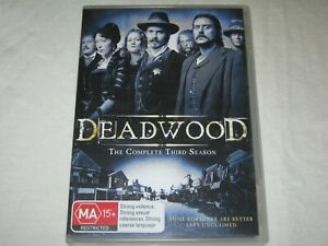 Deadwood - Complete Season 3 - 4 Disc - Region 4 - VGC - DVD