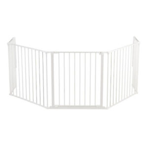 """BabyDan Flex Hearth 35.4-109.5"""" XL Size Safety Baby Gate for Fireplace, White"""