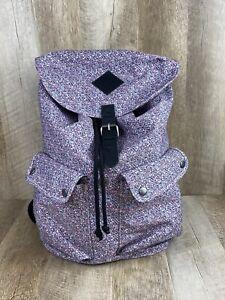 Vans Camo Floral Print Pink Purple Rucksack Satchel Backpack