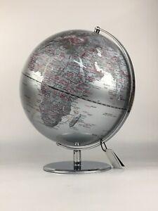 "Drexel Heritage World Globe White & Silver 14"""