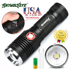 8000LM XML U2 LED 3 Modes USB Rechargeable Flashlight Torch 26650 Battery Cable