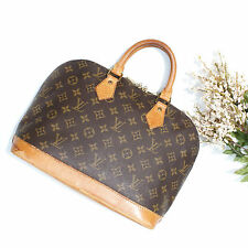Authentic Louis Vuitton Monogram Alma Handbag Vintage LV Bag Brown Medium Purse