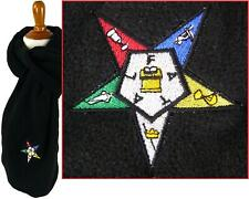Order Of The Eastern Star Monogram Scarf Black Fleece Freemason Free Mason Gift