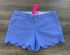 NWT Lilly Pulitzer Buttercup Stretch Short Periwinkle Purple Size 8 Free Ship