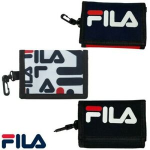 Fila Mens Cashmore Trifold Zip Coin Pocket Card Holder Clip Robust Wallet