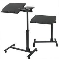 Height Adjustable Mobile Rolling Laptop Desk Hospital Table Cart Over Bed Stand
