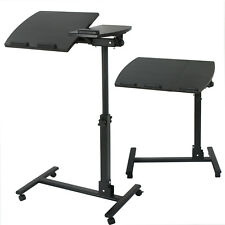 Height Adjustable Mobile Rolling Laptop Desk Hospital Table Cart Over Bed Stand