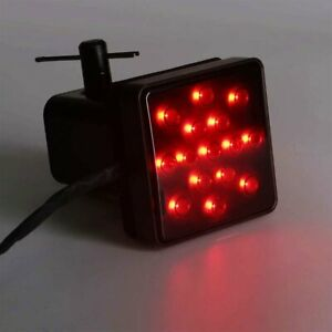 """Smoked Lens 15-LED Tow Hitch Receiver Strobe Brake Light For Truck SUV 2"""" Hole"""