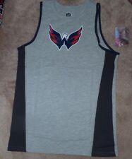 NEW NHL Washington Capitals Tank Top Shirt Youth Boys L Large 14 16 Grey NWT