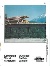 Brochure - Koppers - Laminated Wood Structure Examples Logging Truck 1977 (AF39)