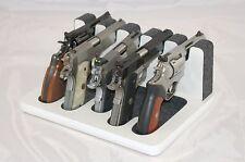 Pistol 5 Gun Rack Stand 501 White Gray Cabinet Safe