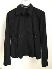 URBAN OUTFITTERS SHIRT BLACK CLASSIC SLIM FIT CASUAL OFFICE SIZE M