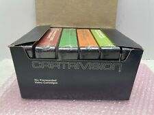 RARE SEALED CARTRIVISION LOT OF 6 VIDEO CASSETTE TAPE CARTRIDGES W/ BLACK BOX 03