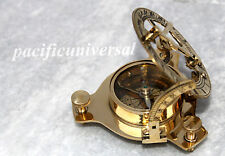 Nautical Solid Brass Sundial Compass Vintage Pocket Astro Compass marine Gift..