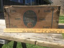 Swifts Premium Canned Meat Advertising Wood Crate, Shabby