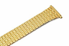 SPEIDEL 18-22MM GOLD EXTRA LONG TAPERED TWIST O FLEX EXPANSION WATCH BAND STRAP