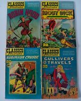 Classics Illustrated Comic Book Lot #5 7 10 16 Golden Age Robin Hood Moby Dick