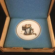 Vtg Miniature Collector Plate by Berta Hummel Museum Mother's Helper Schmid 1979